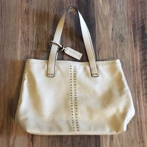 Sole/Society vegan leather studded tote Lt Tan